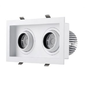 Square downlight one/two/three heads
