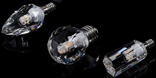Crystal LED bulbs